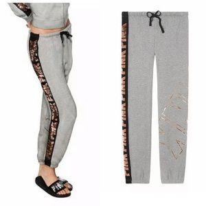 VS Pink Bling Classic Pant Sweatpants Heather Gray
